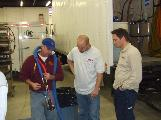 North American Processing provides gun training for spray foam application.