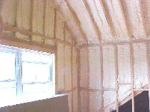 Spray foam insulation is the most efficient form of insulation commercially available.