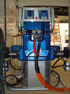 Gusmer Graco H-25 proportioning unit used for spray foam insulation.