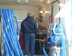 Graco H-40 or H-XP3 installed in a mobile spray foam trailer.