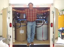 Brian Mulder of Mulder Home Improvements in Roxbury, New York with his new mobile spray foam unit equipped with a E20 proportioning unit.
