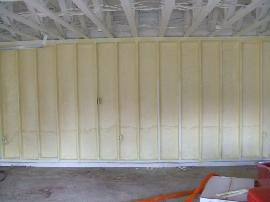 Polyurethane closed cell spray foam insulation completely and efficiently insulates and seals around penetrations through the building framework, such as electrical outlets, plumbing fixtures and creates a protective thermal envelope around your living space.