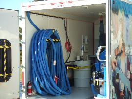 Graco built mobile spray rig capable of running E20, E30, H25, H40, EXP1, EXP2, HXP2 or HXP3 spray foam proportioning units.
