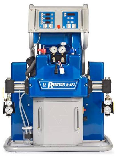 Graco H-40 and HXP3 proportioning units are high output hydraulic  spray foam and polyurea units that are the newest Reactor units to further advance the polyurethane and polyurea spray market.