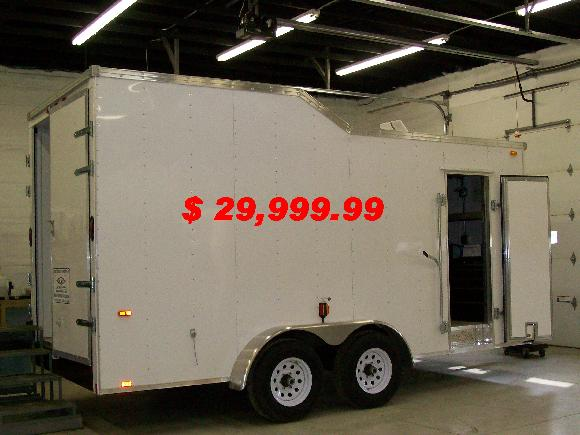 16' Sprintback thermal broke trailer equipped with Graco E20 proportioning unit.