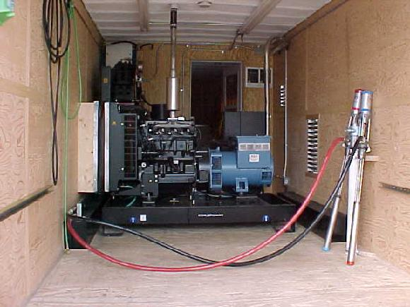 DIESEL GENERATOR INSTALLED  FOR MOBILE SPRAY RIGS APPLYING POLYUREAS, SPRAYFOAM, OR TWO-COMPONENT COATINGS SUCH AS SPI OR DEVCON FUTURA.